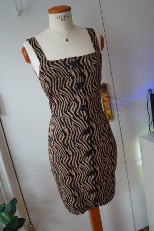 Animal Print Cocktail Kleid mit Knöpfen Gr.38