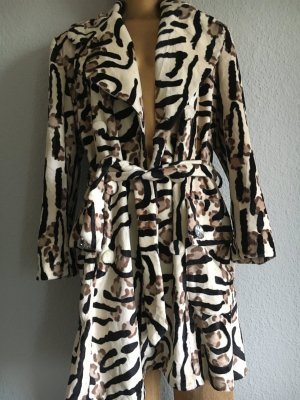 Animal-Print Mantel Casual-Look