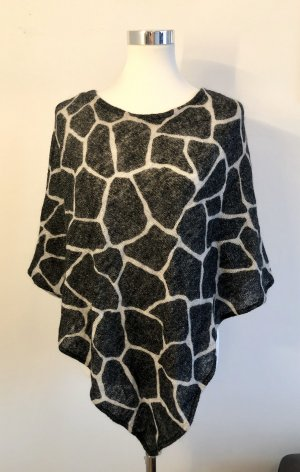 Animal Print Mohair Poncho
