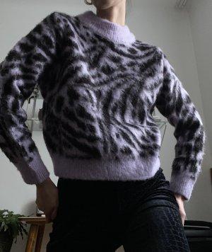 animal print pullover lila schwarz