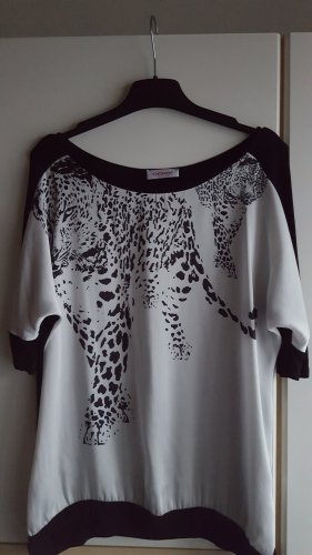 Orsay Shirt met print wit-zwart
