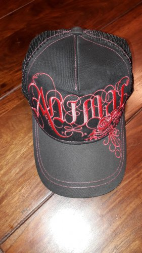 Animal Baseball Cap black-neon red