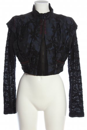 Animale Short Jacket blue-black mixed pattern casual look