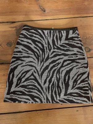 H&M Tweed rok wit-zwart