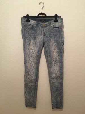Animalprint hell denim Jeans Schlange danke Print slim 40 normale leibhöhe