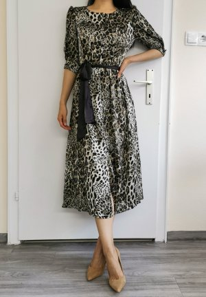 Animalprint Leopard Leo Maxikleid 1/2 Arm