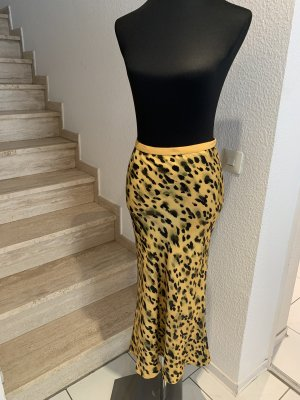 Anine Bing Gonna in seta giallo-nero