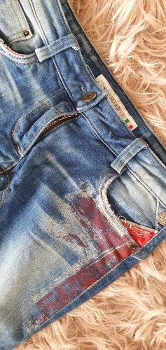 Animo Reithose Jeans denim Union Jack skinny leggings