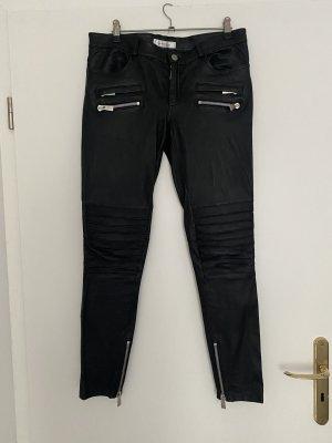 Anine Bing Skórzane spodnie czarny Skóra