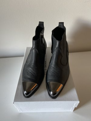 Anine Bing Boots with metal cap / Leder / 39