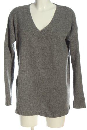 Anine Bing Pullover in cashmere grigio chiaro puntinato stile casual