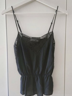 Anine Bing Top in seta nero