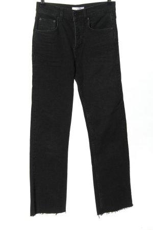 Anine Bing Jeans taille haute noir style décontracté