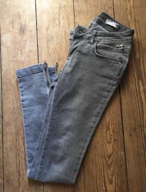 Anine Bing Tube jeans grijs-lichtgrijs