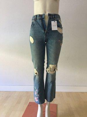 Anine Bing Jeans a 7/8 azzurro Cotone