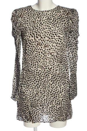 Anine Bing Camicetta a maniche lunghe bianco-marrone Stampa leopardata