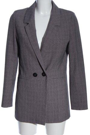 Anine Bing Blazer lungo grigio chiaro-rosa motivo a quadri stile professionale