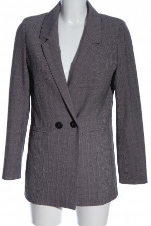Anine Bing Long-Blazer hellgrau-pink Karomuster Business-Look