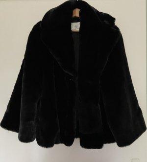 Anine Bing Cappotto in eco pelliccia nero