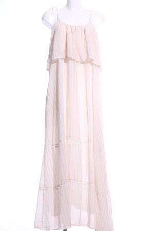 Anine Bing Maxi-jurk wolwit-wit gestreept patroon casual uitstraling