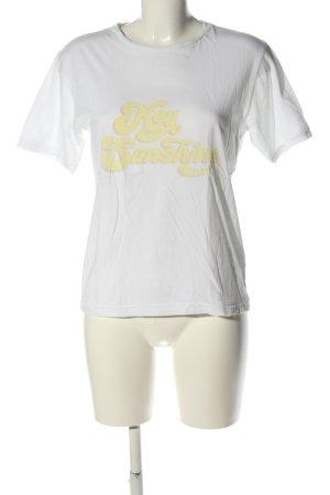 Anine Bing Camicia fantasia bianco-giallo pallido caratteri stampati