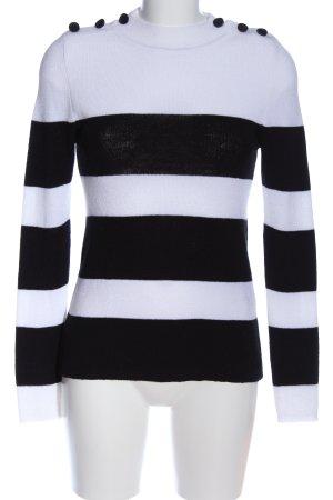 Anine Bing Maglione girocollo nero-bianco motivo a righe stile casual