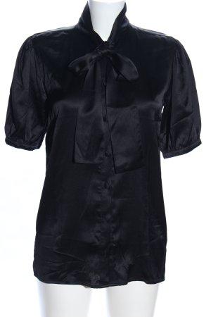 Anine Bing Stropdasblouse zwart zakelijke stijl