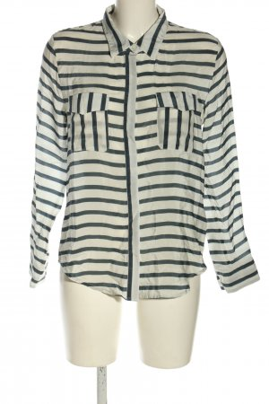 Anine Bing Silk Blouse white-black striped pattern casual look