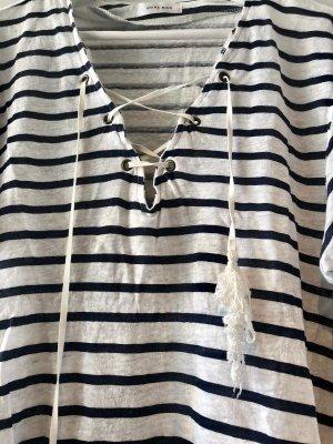 Anine Bing Maglietta a righe bianco-azzurro