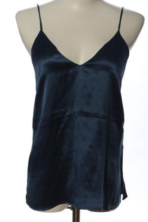 Anine Bing Top con bretelline blu stile casual