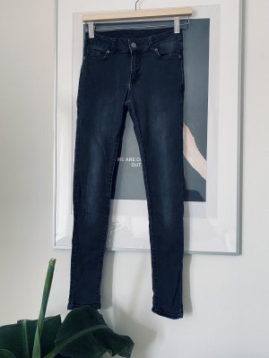 Anine Bing Jeans taille haute gris anthracite-noir