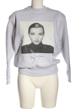 Anine Bing Sweatshirt gris clair moucheté style décontracté