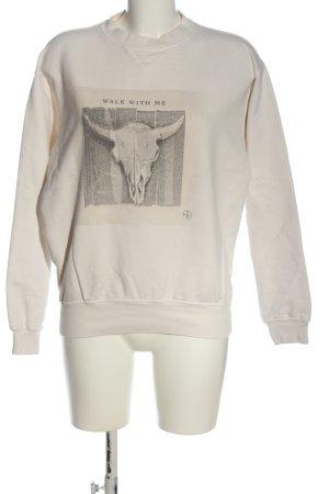 Anine Bing Sweatshirt blanc cassé imprimé avec thème style décontracté