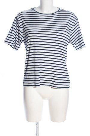 Anine Bing T-shirt nero-bianco motivo a righe stile casual