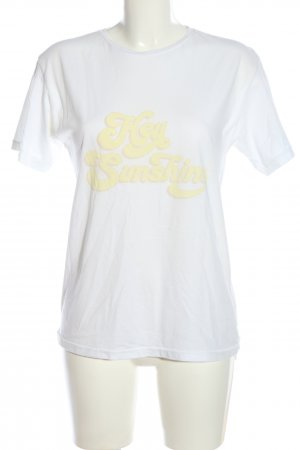 Anine Bing T-Shirt white printed lettering casual look