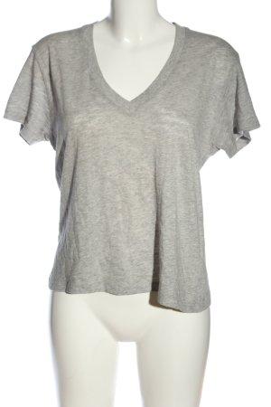 Anine Bing Maglia con scollo a V grigio chiaro puntinato stile casual
