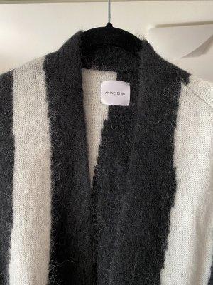 Anine Bing Giacca in maglia bianco-nero