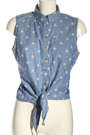Aniston Sleeveless Blouse blue-white allover print casual look
