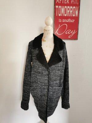 Aniston Cappotto a maglia nero-grigio chiaro Acrilico