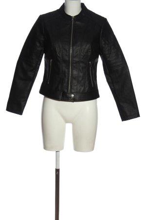 Aniston Casual Kurtka z imitacji skóry czarny W stylu casual