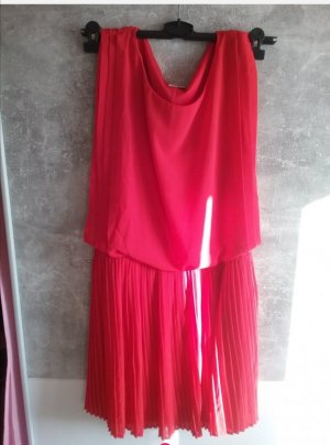 Aniston Chiffon Dress red