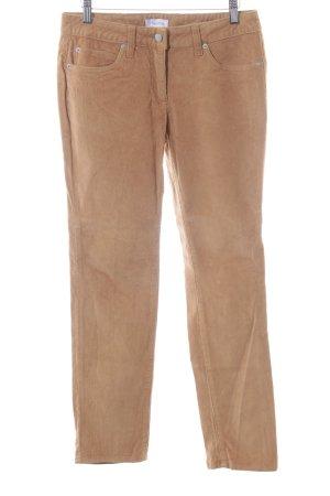 Aniston Pantalon en velours côtelé orange clair style décontracté