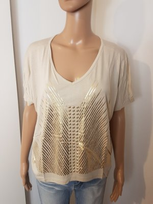 Aniston Top extra-large beige clair-doré viscose