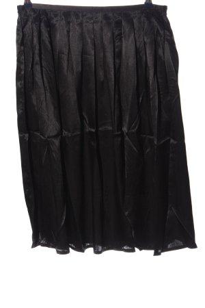 Aniston Jupe à plis noir style décontracté