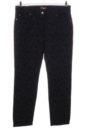 Aniston Pantalon cinq poches noir imprimé allover style décontracté