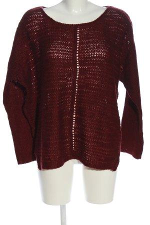 Aniston Pull en crochet rouge style décontracté