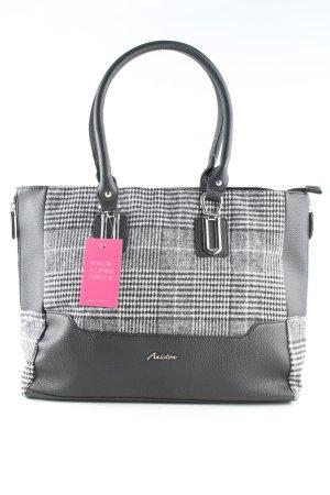 Aniston Handtasche schwarz-weiß Karomuster Business-Look
