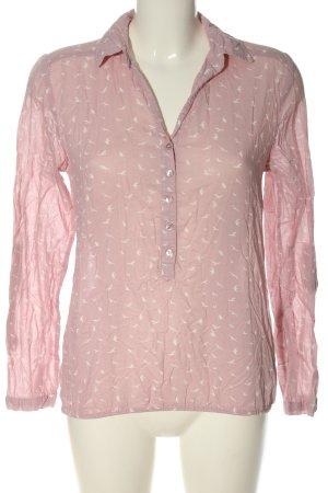 Aniston Camicia blusa rosa-bianco stampa integrale stile casual
