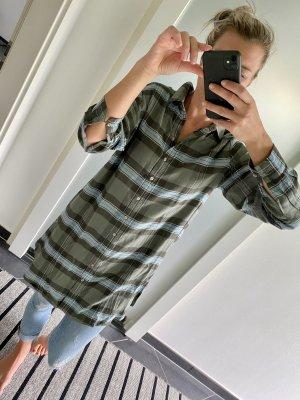 Aniston Hemdblouse grijs-bruin-lichtblauw