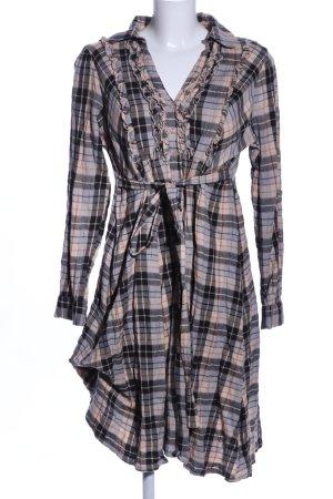 Aniston Robe chemise motif à carreaux style décontracté